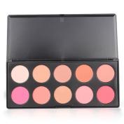 10 Colour Blush Blusher Powder Palette Makeup Cosmetic Kit Fashion