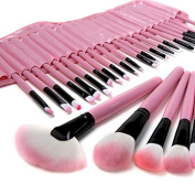 Beau Belle 32Pcs Pink Makeup Brushes Kit Professional Cosmetic Make Up Set + Pouch Bag Case