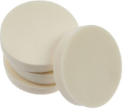 Badgequo Body Collection 4 White Round Cosmetic Sponges