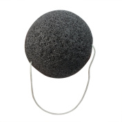 Black Natural Konjac Konnyaku Jelly Fibre Face Cleansing Wash Sponge Puff Hot
