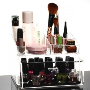 HQdeal Makeup Organiser Luxury Cosmetics Acrylic Clear Case Storage Insert Holder Box One Large Drawer