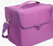 Glow Professional Fabric Finish Make Up/ Beauty/ Cosmetic Case, Purple