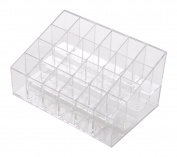 FOONEE 24 Stand Transparent Plastic Trapezoid Makeup Cosmetic Organiser Display Stand