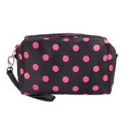 Sweet Cosmetic/Make-Up/Organiser Bag Pouch Zipper Hand Case Polka Dots
