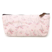 Women's Flower Pencil Pen Case Cosmetic Tool Bag Storage Pouch