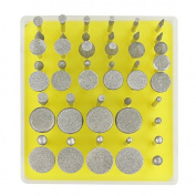 Efine 50pc Diamond Point- Ceramics Tile Glass Lapidary for ROTARY TOOLS