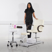 Pedicure Set - Includes Chair, Side Table, Stool and FREE Foot Spa