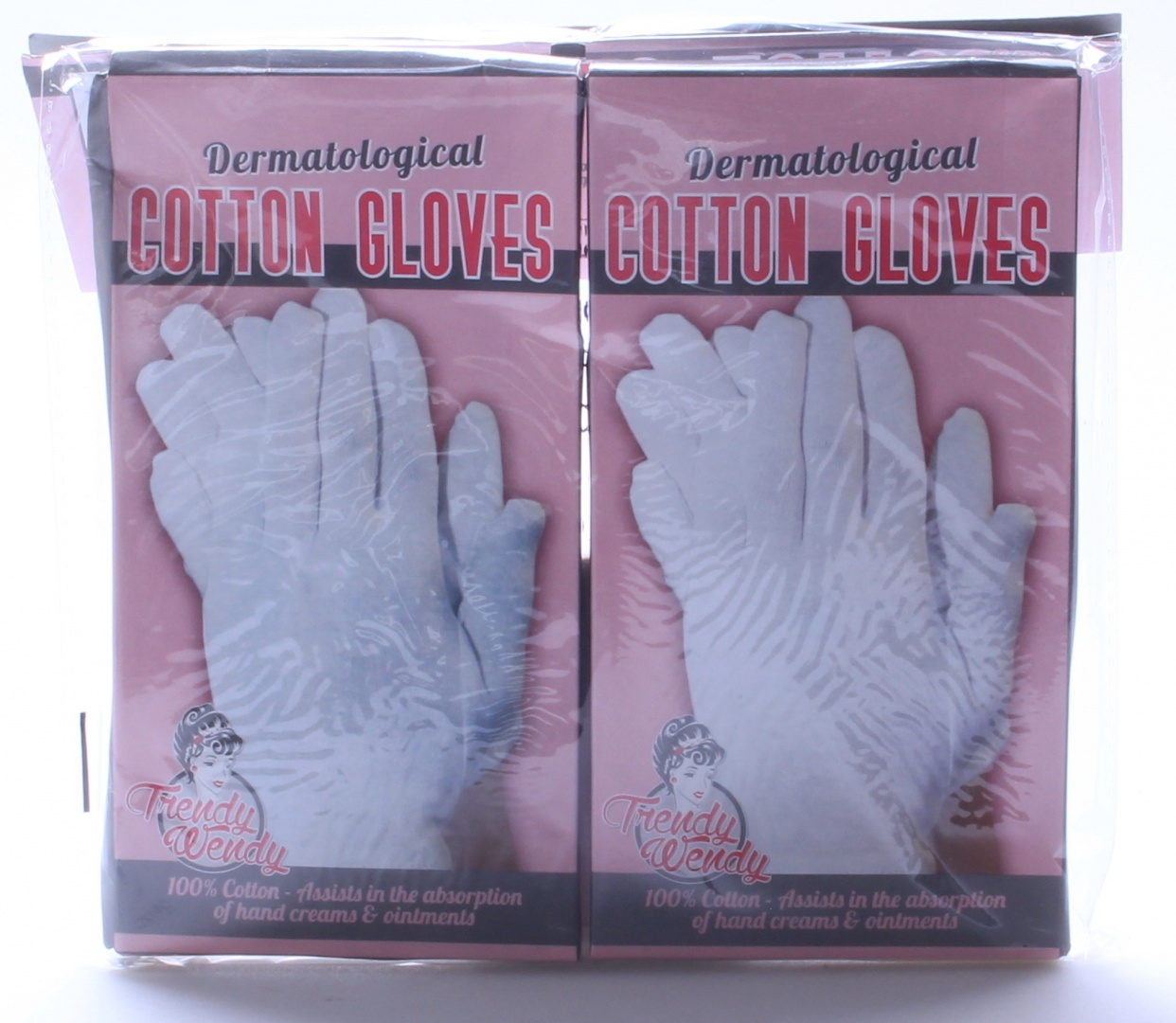 New 2 Pairs Dermatological Cotton Gloves Cream Absorbtion Eczema Dry
