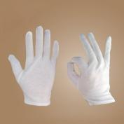 Foxnovo® 8 pairs Soft Cotton Protective Glove Film Handling Glove Working Glove Dry Skin Moisturising Cream White