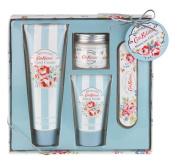 Cath Kidston Blossom Manicure Gift Set Contains Hand Cream 75 ml/ Hand Scrub 30 ml/ Cuticle Cream 38 ml/ Nail File