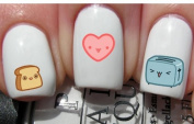 Kawaii Breakfast Nail Decals by YRNails