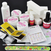 BF New Professional UV GEL NAIL KIT +5 FILE BLOCKS Tips Forms Nail Decoration Kit #141