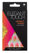 Elegant Touch Trend Abstract Nails, Marble/ Coral/ Gold