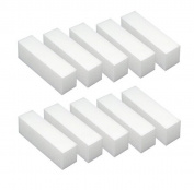 White Acrylic Nail Art Tips Buffer Buffing Sanding Block Files Manicure Tool