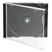 TradePriceInks 100 Single Black CD Jewel Cases
