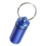 Aluminium Stash Medicine Pills Box Holder Organiser Case Keychain Keyring