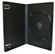 100 Black Single DVD Cases - 14mm - Toner UK