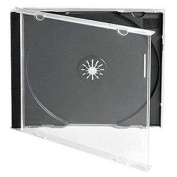 Vision Media 10 X Shatterproof Single CD Jewel Case Inc Black Tray - 10.4mm Spine