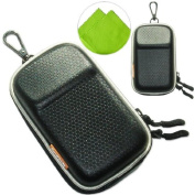 New first2savvv heavy duty black camera case for FUJIFILM FinePix XP200 with LENS Cleaning Cloth