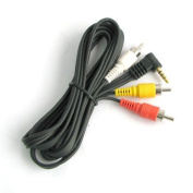 3.5mm Camcorder Cable to 3 x Phono, JVC, Canon + More
