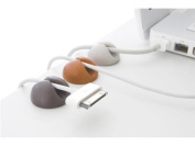 6 x Multipurpose silicon cable holder / organiser for mobile phones, laptops, computers etc