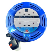 Masterplug MCT1010/4BL-MP 10m 4 Socket 10 Amp Medium Cassette Reel with Thermal Cut Out and Reset Button