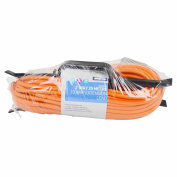 25 Metre 13 Amp Orange Outdoor Extension Cable on 'H' Frame with 2 Gang Rubberised Socket