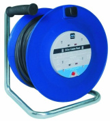 Masterplug HDCC5013/4BL 50m 4 Socket 13 Amp Open Cable Reel with Thermal Cut Out and Reset Button