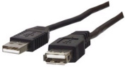 USB 2.0 A Plug to A Socket Extension Cable Hi Speed 1.8M