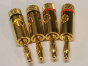 4mm Gold Banana Plugs pack of 4