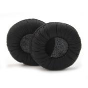2Pcs Black Soft Leather Headphone Cushion Pads For Sennheiser PX100 X200 PXC300