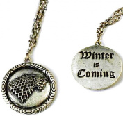 Charm Buddy Game of Thrones House Stark Winter Is Coming Direwolf Dire Wolf 50cm Pendant Necklace with Gift Bag