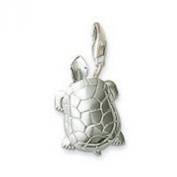 SILVER TURTLE - ONE SIDED - CLIP ON CHARM - 925 SILVER PLATE - FREE P & P - COMES IN A PRETTY LITTLE ORGANZA BAG