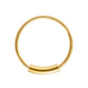 Blue Banana Body Piercing - Gold 1mm Eyebrow Lip Cartilage Earring BCR Cylinder Closure Hoop Ring