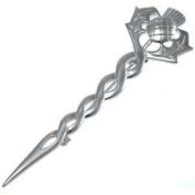 Sterling Silver Celtic Scottish Thistle Kilt Brooch Or Cloak Pin