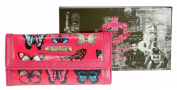 New LYDC Purse Butterfly Print Oilcloth Patent Ladies Wallet Boxed Gift Designer