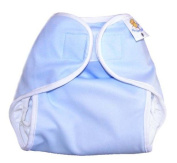 Nature Babies Classic Wrap Washable Nappy with Hook and loop Fastening - Baby Blue