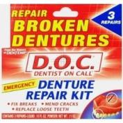 THREE PACKS of Dentemp Denture Repair Kit