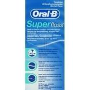 THREE PACKS of Oral-B Superfloss - Premeasured Strands x 50