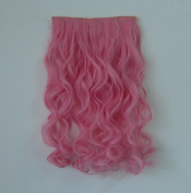 X & Y ANGEL- New Two Tone One Piece Long Curl/curly/wavy Synthetic Thick Hair Extensions Clip-on Hairpieces 26 Colours-pink