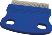 Nit Comb, Lice Detection Comb, Dog Comb, Pet Grooming Comb, Stainless-Steel, blue