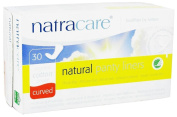 Natracare 30 Organic cotton cover Curved natural panty liners