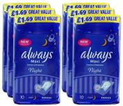 Always Maxi Night Comfort & Protection Sanitary 60 Pads