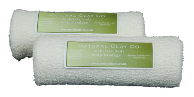 2 x 100% Cotton elasticated contour body wrap bandages (15cm x 4m)