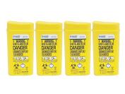 Sharpsafe Disposable Sharps Bin 0.2 litre - Pack of 4