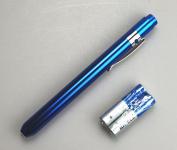 Aluminium pen torch with pupil gauge