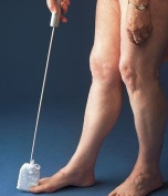 Long Handled Towelling Toe Washer