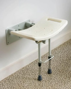 Folding Wall Mounted Shower Seat with Adjustable Legs