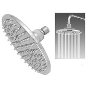Large 20cm Rain Style Shower Head Chrome Finish with Swivel Ball Connexion Chrome Finish Wall or Ceiling fix 1 Year Warranty