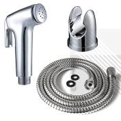 Bidet Shattaf Douche Spray Chrome Hygienic Toilet Shower Head Hose Set Muslim